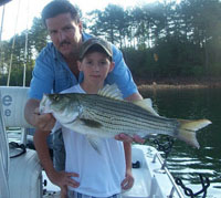 Lake Allatoona Striper Fishing